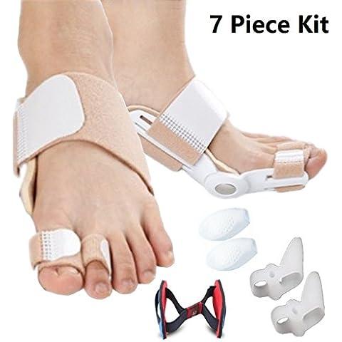 7 pezzi di correzione Bunion Relief Pack & Bunion Corrector Kit Bunion stecca alluce valgo Bunion riempie la protezione Big piccoli Toes raddrizzatore di Smart Fun