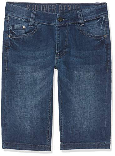 s.Oliver Junior Jungen 75.899.72.1001 Shorts, Blau (Blue Denim Stretch 56z7), 176 (Herstellergröße: 176/SLIM) -