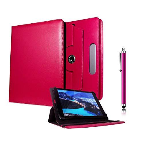 Galaxy Store Rosa Universal PU Leder Tasche Hülle 360 Grad Drehung Case mit Kapazitiver Stift Touch für Lenovo A7-30 / A7-40 / A7-50 7