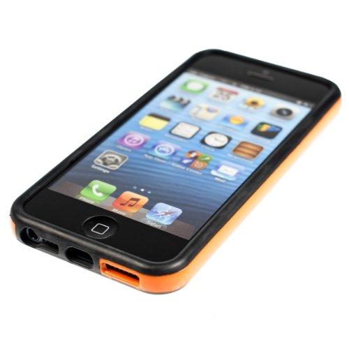 Stiloso BUMPER in TPU per Apple iPhone 5 / 5S in Arancione - Protegge il cellulare a 360�, firmato kwmobile