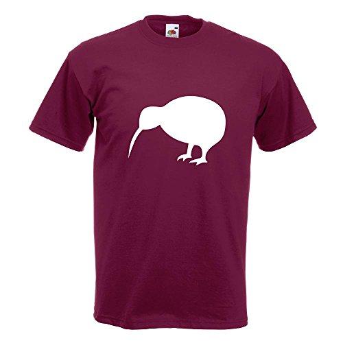 KIWISTAR - Kiwi / Neuseeland T-Shirt in 15 verschiedenen Farben - Herren Funshirt bedruckt Design Sprüche Spruch Motive Oberteil Baumwolle Print Größe S M L XL XXL Burgund