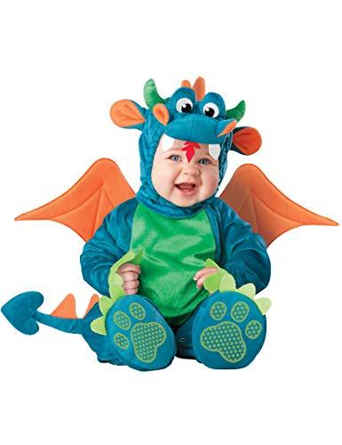 In Character Costumes Niedlicher Drache Babykostüm blau-grün 68/74 (6-12 ()