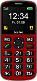 Beafon Handy mit 3G 'SL340i' (Bluetooth, Freisprechfunktion und Vibrationsalarm) Rot