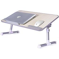 MAPUX Mesa para Ordenador Portatil Plegable Soporte para Portátil Mesa para Sofa Cama Escritorio de Calidad para Portátil De lectura para niños