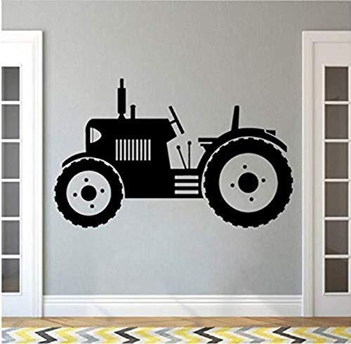 WENYAO Adesivi murali per Soggiorno Adesivi murali trattori Grandi Pneumatici Adesivi murali per Auto per Bambini Bambini Poster per Bambini Poster da Parete Decorazioni per la casa Murali per fatt