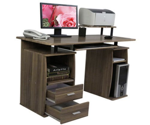 Btm Pc Table Computer Desk With Drawers For Home Office Furniture Study Workstation Table