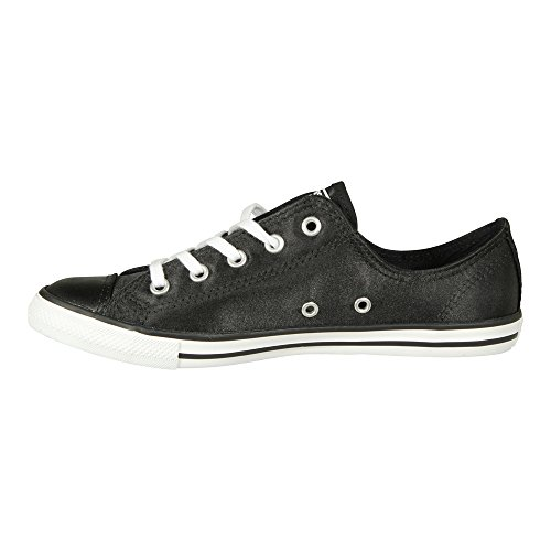 Chuck Taylor Ox (Converse Damen Sneaker Chuck Taylor All Star Dainty Low Ox Black White (schwarz), Größe:39)