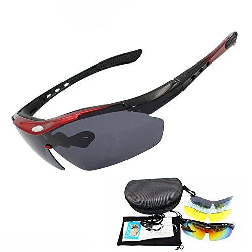 SUNGLASSES GJY Polarisierte Sport-Sonnenbrille für Männer, Frauen, UV400-Schutz unzerbrechliche Brille, Radfahren, Reiten, Fischen, Golf, Baseball und andere Outdoor-Aktivitäten (Color : Black)