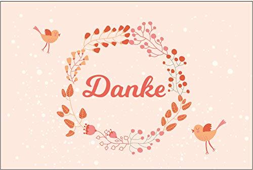 10 Stück Premium Dankeskarten (Klappkarten) mit Umschlägen, Danke, Dankeschön, Karten, Dankekarten, Hochzeit, Geburt, Baby, Taufe, Abschied, Geburtstag, Jubiläum