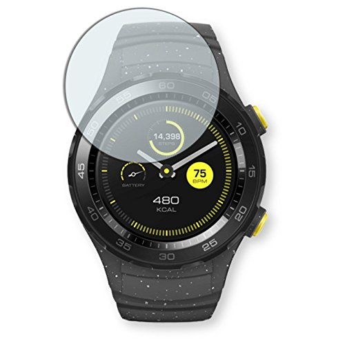 DISAGU Espejo protectores de pantalla para Huawei Watch 2 Classic - (efecto de espejo, montaje muy fácil, removible sin residuos)