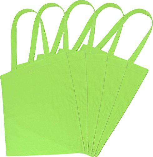 Sacchetto di stoffa Borsa della spesa Borsa in 100% cotone in vari colori verde chiaro