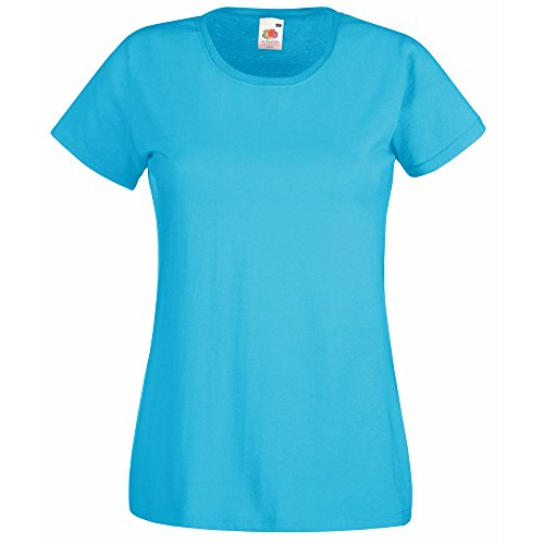 Fruit of the Loom Lady-fit valueweight tee Azure Blue