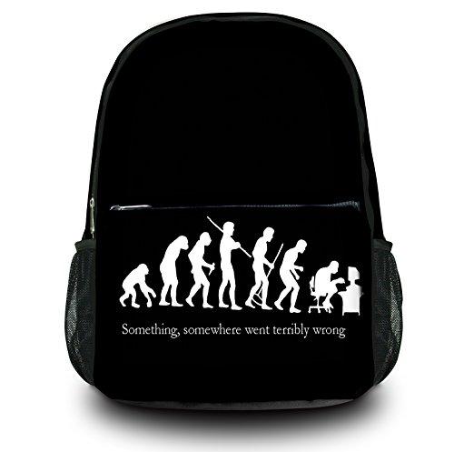 Luxburg® Design Rucksack Multifunktionsrucksack Ranzen Schulranzen Sporttasche Backpack, Motiv: Nerd Evolution