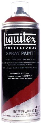 Liquitex Professional - Acrílico en spray, 400ml, rojo de cadmio oscuro (imit.) 3