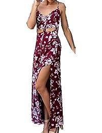 7aca7a82fc8c Internet Donna Vestiti Beach Dress Stampa Bohemian Split Ends