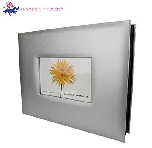 JSP 28 x 22 cm Fine Art Photo with 20 Pages, Quality Fininsh in Silver with Photo Insert ( 11 x 8.5