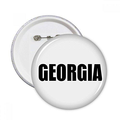 Georgien Land Namen schwarz rund Pins Badge Button Kleidung Dekoration 5x Geschenk xxl mehrfarbig (Georgien Namen)