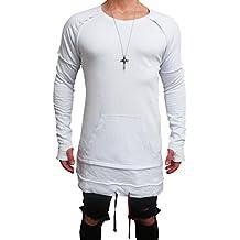 82f5e96b65c2 Oversize Double Layer Pullover Sweat Jacke Cardigan Hoody hip hop Shirt  Herren Hoodie Longsleeve m Kapuzenpullover