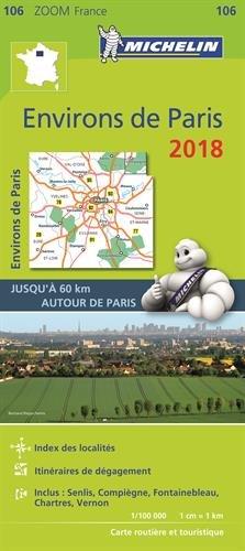 Carte Environs de Paris Michelin 2018