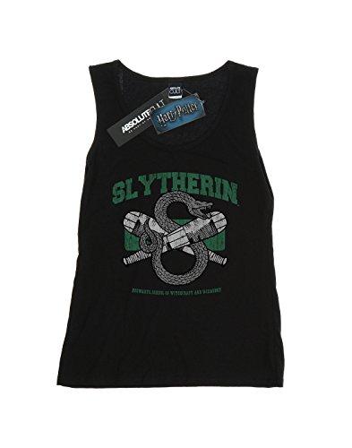 Harry Potter Femme Slytherin Quidditch Emblem Tank Top Noir