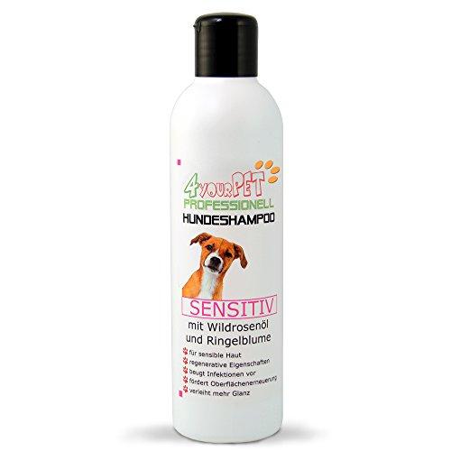 4yourpet Professionell Hundeshampoo SENSITIV mit Wildrosenöl und Ringelblume 250ml -