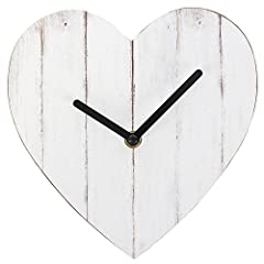 Idea Regalo - Something Different Shabby Chic Bianco a Forma di Cuore in MDF