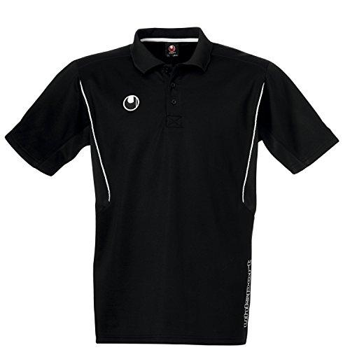 uhlsport Poloshirt Training, schwarz, L, 100205003 (Gesticktes Logo Golf Shirt)