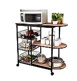 Udane ✌Zuhause Lager Gestell Küchen-Regal-Multifunktionsmobile Boden-stehendes Mehrschichtmikrowellen-Ofen-Gestell/Regal-Studie-Wohnzimmer-Speicher-Regal/Gestell-Gemüseregal/Regale