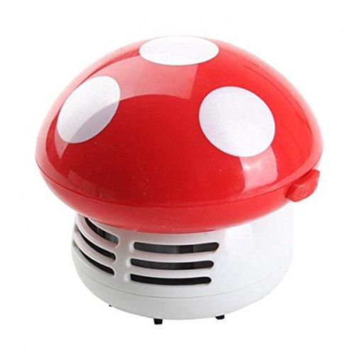 Kommerzielle Vakuum-tisch (Niedlichen Mini Staub Vakuum Schreibtisch Tabelle Pilz Verputz Kehrmaschine - Rot)
