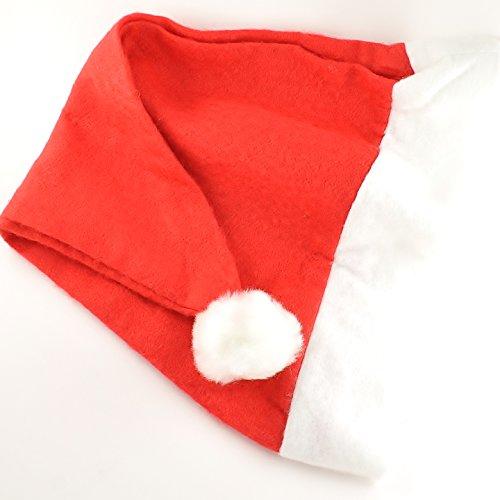 25 x Festive/Weihnachts-Hut, Filz Santa-Bulk (Hüte Bulk Weihnachten)