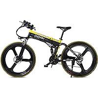 SportArts Bicicleta De Montaña Plegable Eléctrica con Neumático De Reparación Automática Y 48V Li-Battery