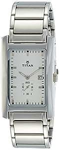 Titan Formal Steel Analog Silver Dial Men's Watch - NC9280SM01A