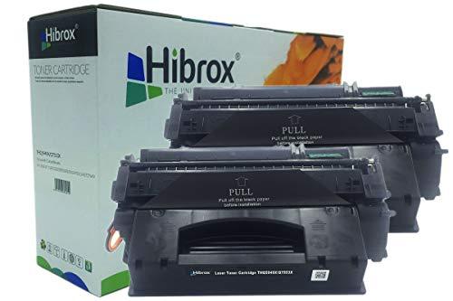 Pack 2Pcs Hibrox Toner Compatible HP Q5949X Q7553X EP708 49X 53X pour Canon EP 708 LBP 3360 LBP 3310 Epson EPL N2050 N2750 HP LASERJET 1160 1320N 1320NW 3390 M2727 MFP P2012 P2013 P2014 P2014N P2015