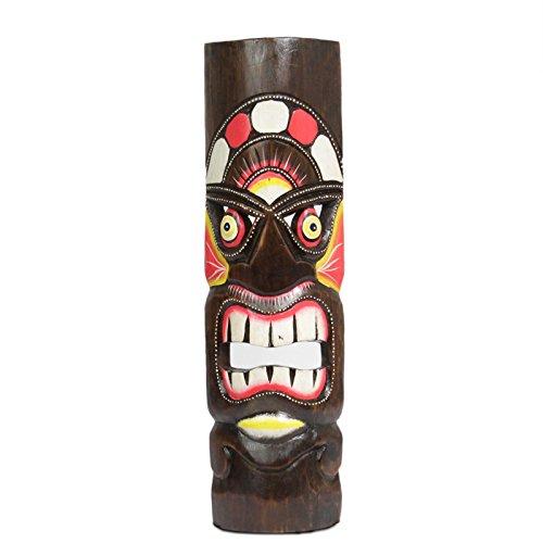 Hawaii legno maschera decorazione maschera da parete motivo: maschera Isola di Pasqua Kauai Maui 50cm, Hawaii maschera: Nr45