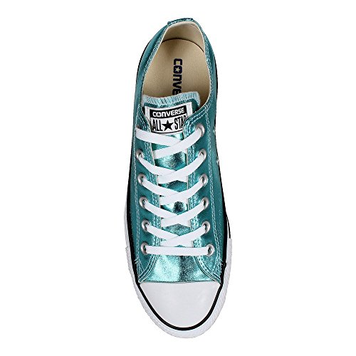 1J793 Converse Mandrini Charcoal Grey Chuck Taylor All Star HI Fresh Cyan