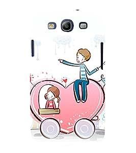 printtech Love Couple Hearts Back Case Cover for Samsung Galaxy S3 Neo / Samsung Galaxy S3 Neo i9300i