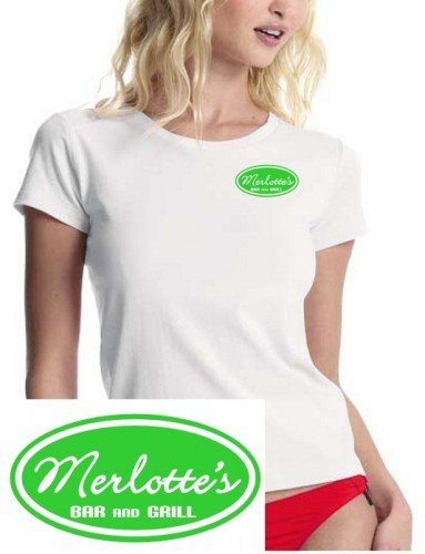 Merlotte´s BAR and GRILL - true blood ! - T-Shirt weiss-green girly Gr.M -