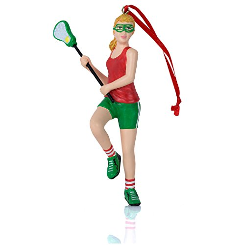 Lacrosse Weihnachten Ornament | LAX Ornaments von ChalkTalk Sports | Mehrere Styles Rot (Lacrosse Schmuck)