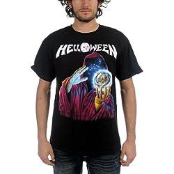 Helloween–Guardián del 7Teclas Camiseta de en Color Negro para Hombre Negro Negro