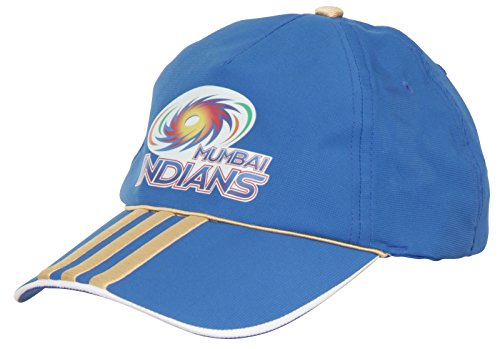 adidas MI 13 Mumbai Indians Cricket Kappe, BlauOne Size (Cricket Bekleidung)