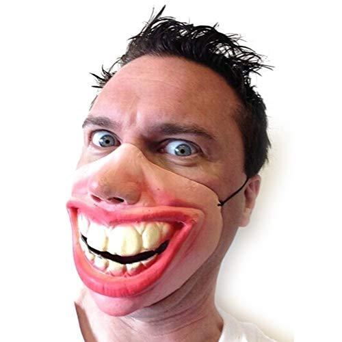 Dress Fancy Maskerade Kostüm - Big Teeth Latex Maske for Film Fancy Dress Fool's Day Maskerade Party Horror Gruseliges Gummiband Halbe Gesichtsmasken Lustiges Kostüm (Color : Red)