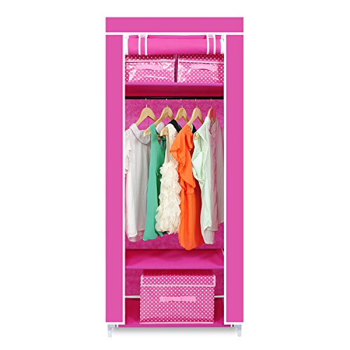 hst-mall-single-canvas-wardrobe-cupboard-clothes-hanging-rail-storage-clothes-storage-organiser-160c