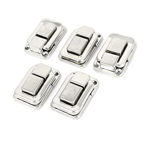 Sourcingmap 5pz collana scatola di blocco gancio cerniera fermo Hasp imposta tono argento - Argento Nome Blocco Collana