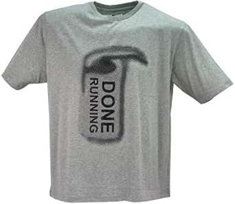 Kam XXL T-Shirt gris à col rond Motif W237 fait de cours'à pied pour femme