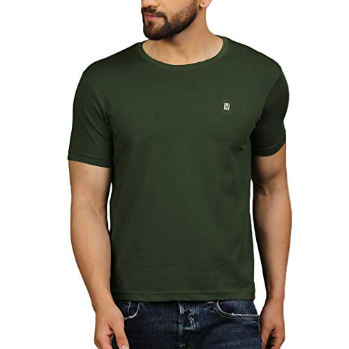 TURMS Stain Repellent & Anti Odour Green Cascade Cotton T- Shirt for Men