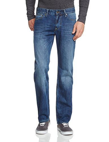 Cross Jeans Herren Relaxed Jeanshose New Antonio Blau (Deep Blue Worn Out 009)