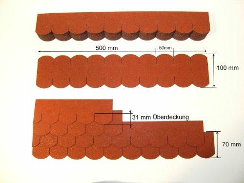 Martinshof Rothenburg Diakoniewerk Mini- Dachschindeln Biberschwanz (50 mm) - Rot 23.414
