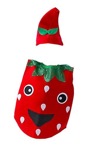 Black Temptation Halloween Kinderkleidung Obst und Gemüse Kostüme, Erdbeere