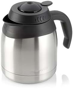 ROWENTA Pot Cafetière Isotherme 8-12 Tasses Noire et Inox
