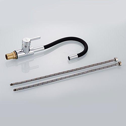 Auralum – Design-Küchenarmatur mit flexiblem Brausehals, Schwarz - 5